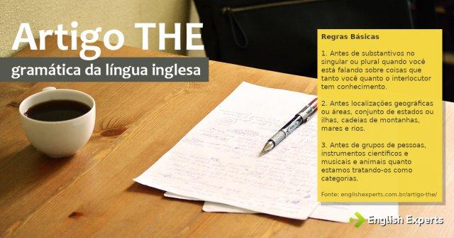 Artigo THE em inglês: Como utilizar