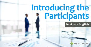 Introducing the Participants: Business English