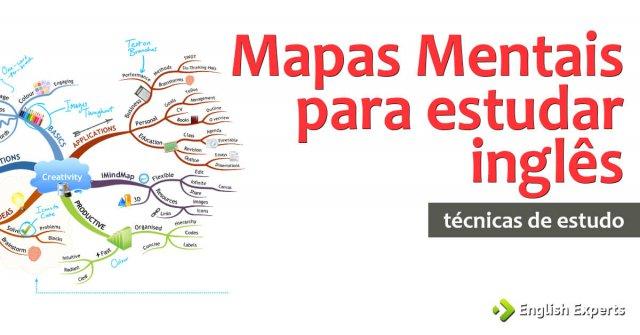 Mapas Mentais para estudar inglês