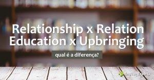 Relationship x Relation e Education x Upbringing