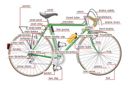 2307c497a7e Bicicleta em inglês: as Partes, Acessórios e Tipos - English Experts