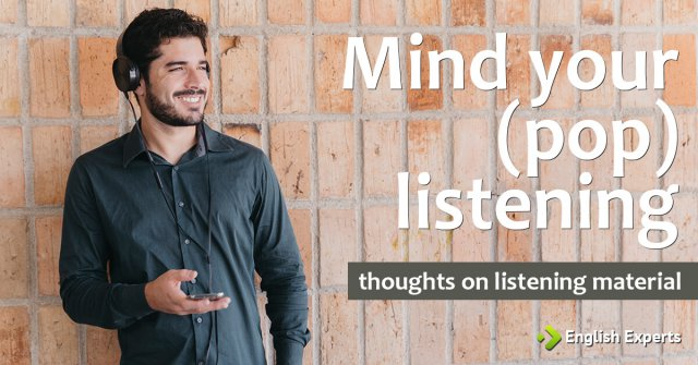 Mind your (pop) listening: thoughts on listening material