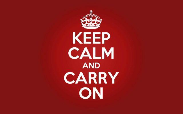 O Que Significa Keep Calm?