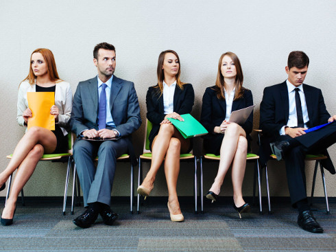 Entrevista de emprego: sala de espera