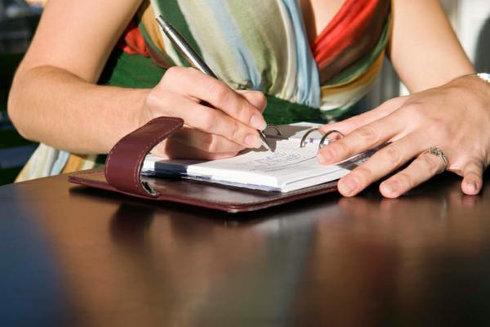 Anotar no caderno