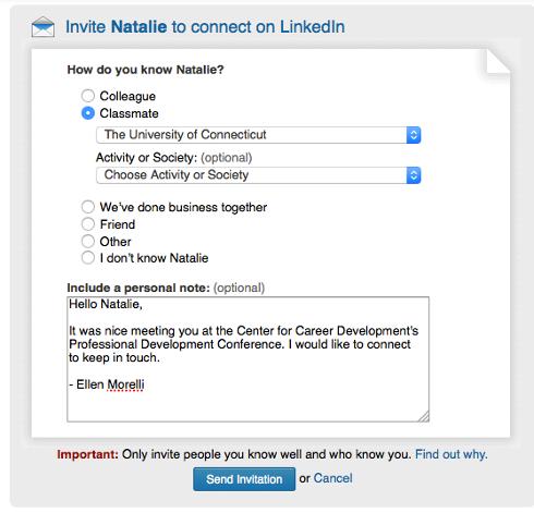 perfil no Linkedin em inglês