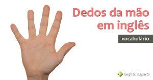Dedos da Mão em inglês