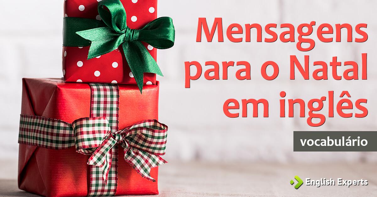 Mensagens de Natal em Ingls Frases de Natal em ingls English