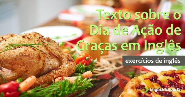 Exercício: Texto em Inglês sobre o Dia de Ação de Graças