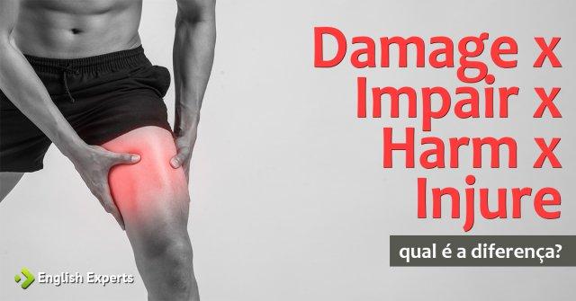 Damage x Impair x Harm x Injure: Qual a diferença