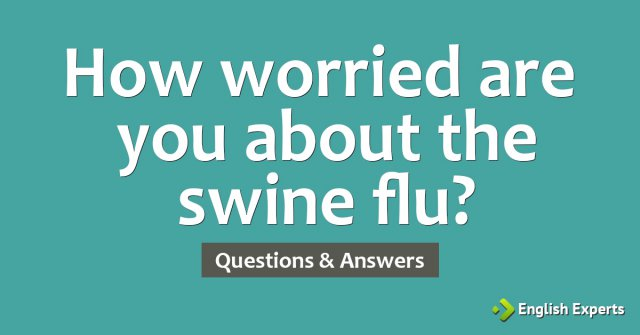 How worried are you about the swine flu?