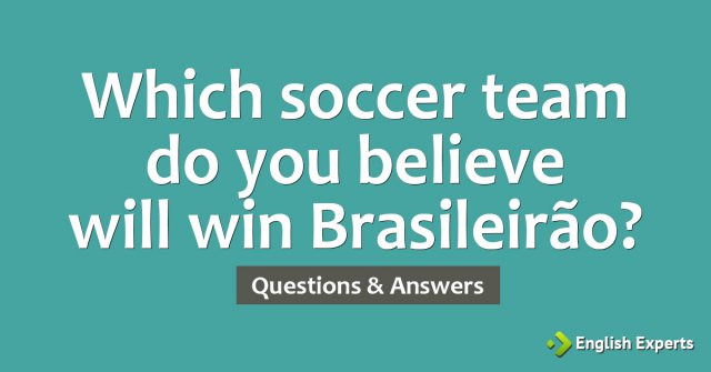 Which soccer team do you believe will win 2010 Brasileirão?