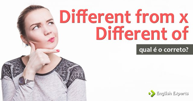 Different from x Different of: Qual utilizar