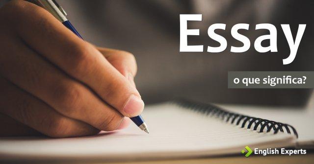 Significado de Essay